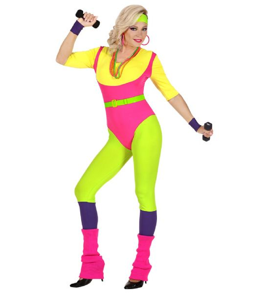 Adults 80s Aerobics Instructor Costume Fancy Dress
